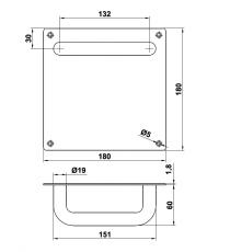 Manillon con placa cuadrada 180x180
